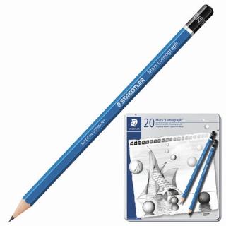 Набор чернографитовых карандашей LUMOGRAPH100, 20 штук в металлической коробке
