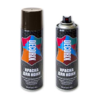 Аэрозольная краска для защиты и обновления изделий из гладкой кожи DECORIX 335 мл