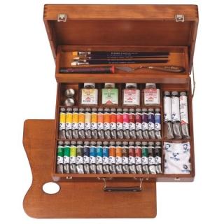 Набор масляных красок Максимальный Superior Van Gogh Royal Talens, 34 цвета и аксессуары
