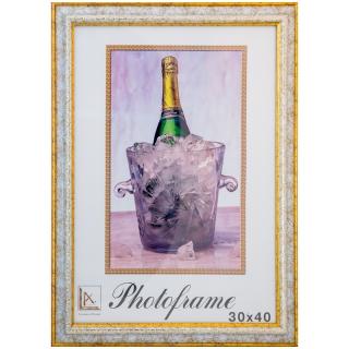 Рамка пластиковая 30*40см, МирРамок, №352А, белый/золото