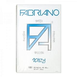 Альбом-склейка для рисования Schizzi Fabriano, 29.7х42см, А3, 100 листов, 90г/м2