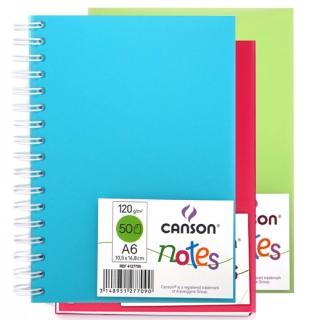 Блокнот на спирали Notes 120г/м.кв 10.5*14.8см 50л пластиковая обложка