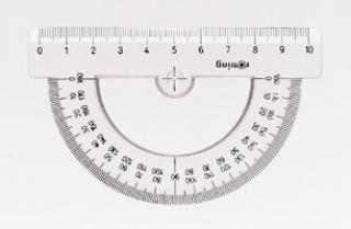 Полукруглый транспортир CENTRO, 10 см