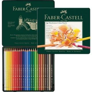 Цветные карандаши Faber-Castell Polychromos профессиональные, набор 24 цвета