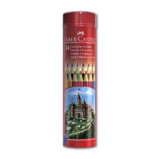 """Цветные карандаши FABER-CASTELL Colour Pencils """"Замок"""" шестигранные, 24 цвета"""