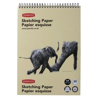 Блокнот для эскизов Derwent Sketch, 165 г/м2, формат А4, 30 листов