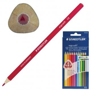 """Карандаши цветные Staedtler """"Ergosoft"""", 12 цветов, трехгранные, картонная коробка, европодвес, 157 C12"""