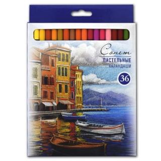 Набор пастельных карандашей Сонет НЕВСКАЯ ПАЛИТРА, 36 цветов
