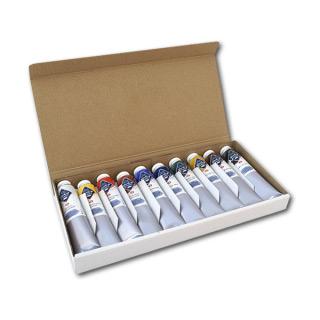 Темперные краски «Мастер-Класс» НЕВСКАЯ ПАЛИТРА, набор 10 цветов по 46 мл.