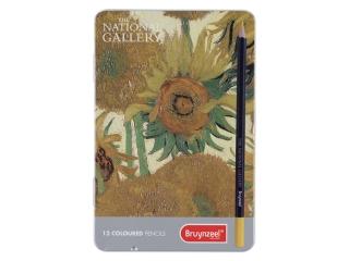 "Набор цветных карандашей Bruynzeel National Gallery ""Подсолнухи"" Ван Гог 12шт."
