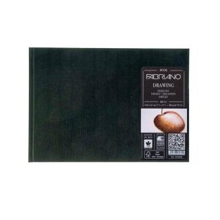 Блокнот для зарисовок Fabriano Drawingbook 160г/м.кв 14,8x21см мелкозернистая 60л (ландшафт), сшивка по короткой стороне