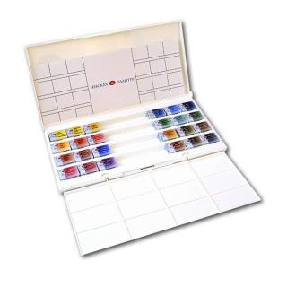 Акварельные краски «Белые ночи» НЕВСКАЯ ПАЛИТРА, набор 24 цвета с палитрой