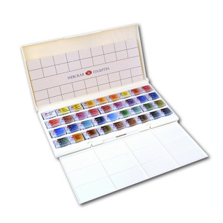 Акварельные краски «Белые ночи» НЕВСКАЯ ПАЛИТРА, набор 36 цветов с палитрой