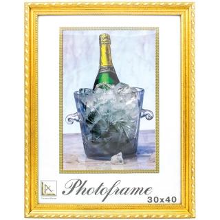 Рамка пластиковая 30*40см, МирРамок, №515, золото