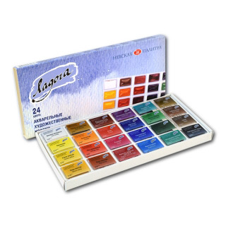 Акварельные краски «Ладога» НЕВСКАЯ ПАЛИТРА, набор 24 цвета