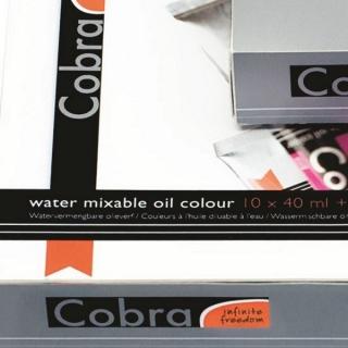 Набор водорастворимых масляных красок Cobra Artist Royal Talens, 10 цветов и аксессуары