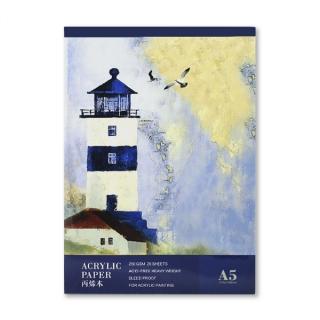 Альбом для акриловой живописи Acrylic Book POTENTATE, 300 г/кв.м, 20 л, формат А5 (14,8x21 см)