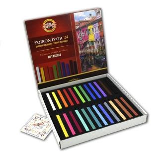 Пастель сухая мягкая Toison D-or KOH-I-NOOR для профессионалов, 24 цвета