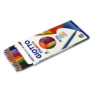 Набор цветных карандашей Giotto Stilnovo Ast FILA для рисования и раскрашивания, 12 цветов