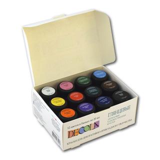 Акриловые глянцевые краски Decola НЕВСКАЯ ПАЛИТРА, набор 12 цветов по 20 мл