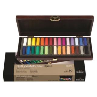 Подарочный набор сухой пастели Basic General Rembrandt Royal Talens, 30 основных цветов