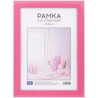 Рамка пластиковая 21*30см, OfficeSpace, №10/1, розовое дерево
