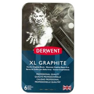 Набор графита Derwent XL 6шт, металлический пенал