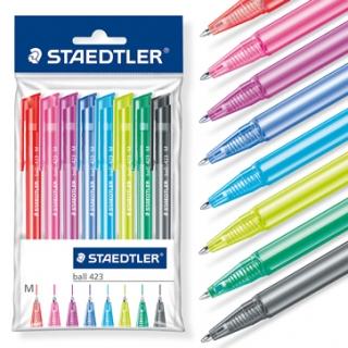 Набор шариковых ручек 423 F, 8 цветов в пластиковой упаковке