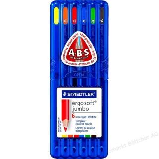 Набор цветных карандашей Ergosoft jumbo треугольные, 6 цветов