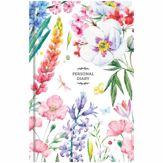 """Ежедневник недатированный, A5, 160 л, OfficeSpace """"Цветы. Яркий мир"""""""