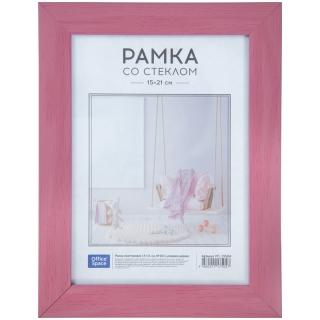 Рамка пластиковая 15*21см, OfficeSpace, №10/1, розовое дерево