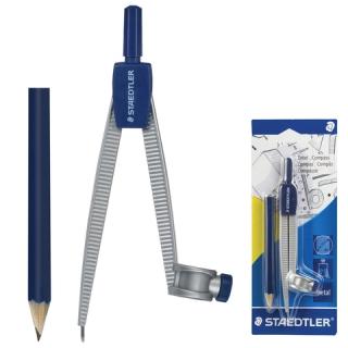 Циркуль металлический Staedtler Noris Club, карандаш в комплекте