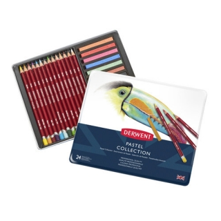 Набор карандашей Derwent Pastel Collection 24 цвета, металлический пенал