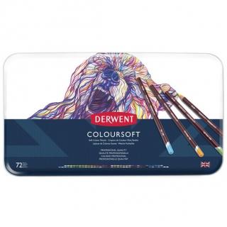Набор цветных карандашей Derwent Coloursoft 72 цвета, металлический пенал