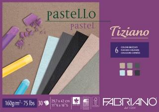 Альбом для пастели Fabriano Tiziano 160г/м.кв 29,7x42см 6 цветов 30л склейка по 1 стороне