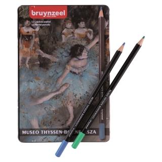 """Набор пастельных карандашей Thyssen Bruynzeel """"Танцовщица в зеленом"""" Дега, 12 цветов, в металлическом пенале"""