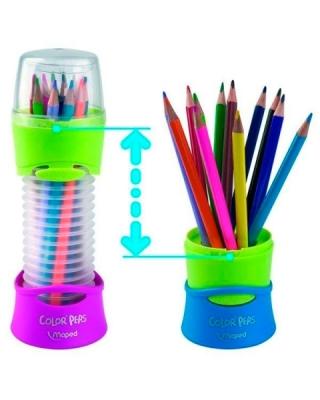 Карандаши цветные детские Color Peps Maped, 12 цветов, в подставке-тубусе