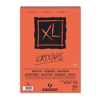 Альбом для графики Canson Xl 90г/кв.м 29.7*42см 120листов Слоновая кость спираль по короткой стороне