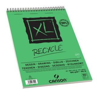 Альбом для графики Canson Xl 160г/кв.м 29.7*42см 50листов Мелкое зерно спираль по короткой стороне