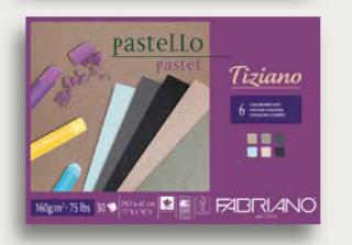 Альбом для пастели Fabriano Tiziano 160г/м.кв 21x29,7см темные цвета 30л склейка по 1 стороне