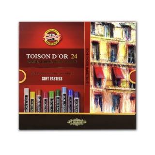 Пастель художественная мягкая Toison D-or KOH-I-NOOR, набор 24 цвета
