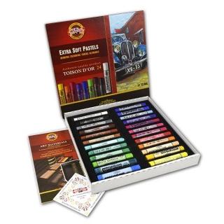 Пастель художественная сухая Toison Dꞌor Extra Soft KOH-I-NOOR для рисования, 24 цвета