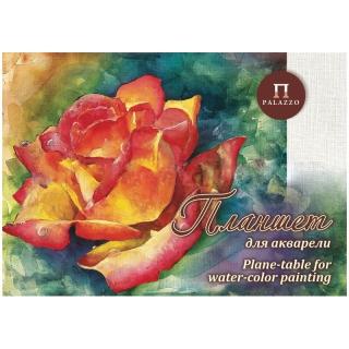 """Планшет для акварели 20л. А3 Лилия Холдинг """"Чайная роза"""", 200г/м2, """"Холст"""""""