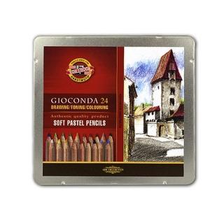 Сухая пастель в карандашах Gioconda KOH-I-NOOR для любителей и профессионалов, 24 цвета