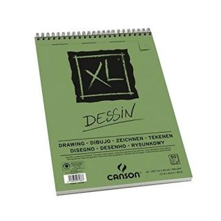 Альбом для графики Canson Xl Dessin 160г/кв.м 29.7*42см 50листов Мелк. зерно спираль по короткой стороне