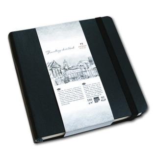 """Блокнот """"Travelling sketchbook"""" для рисования Лилия Холдинг, скетчбук, 130 г/кв.м, 14х14 см, 80 л."""