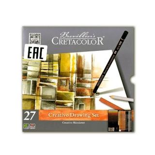 """Базовый художественный набор """"Creativo"""" Cretacolor для эскизов и рисования, 27 предметов"""