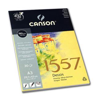 Блок бумаги для рисования 1557 Dessin CANSON, 180 г/м2, формат А3, 30 листов