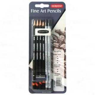 Художественный набор графитовых карандашей Derwent Graphic, 8 предметов