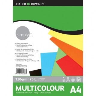 Альбом цветной бумаги Daler Rowney Simply, 120г/м2, 21 листов
